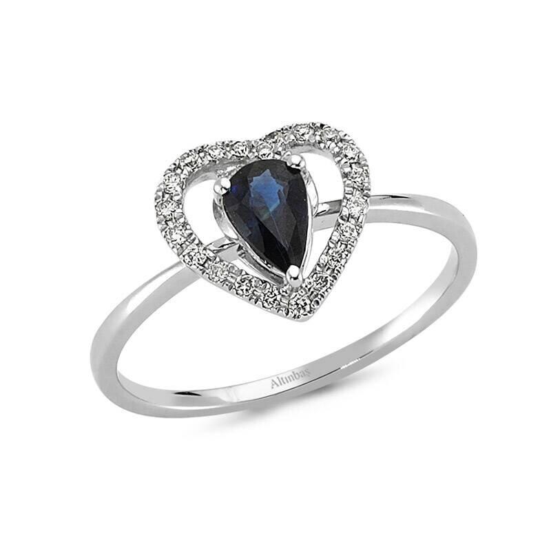 0.10 Carat Sapphire Diamond Ring