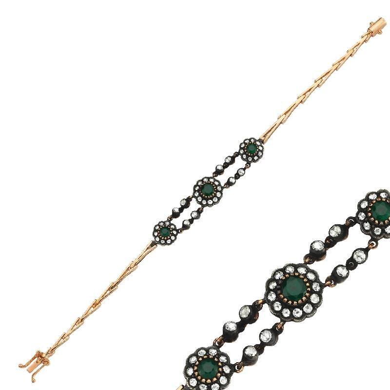0.90 Carat Bracelet Diamant Émeraude