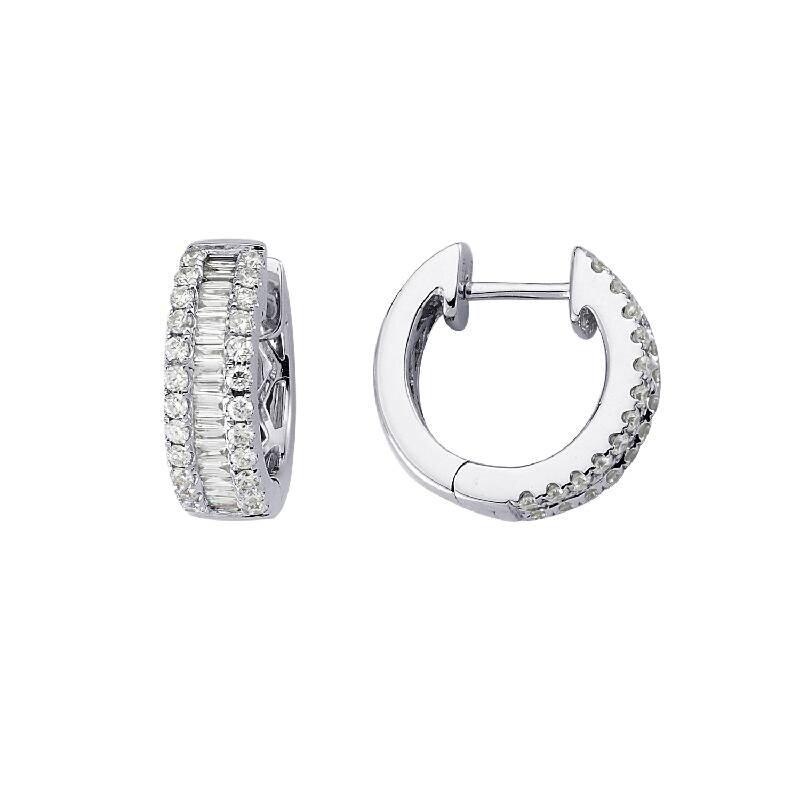 0.70 Carat Hoop Diamond Earrings