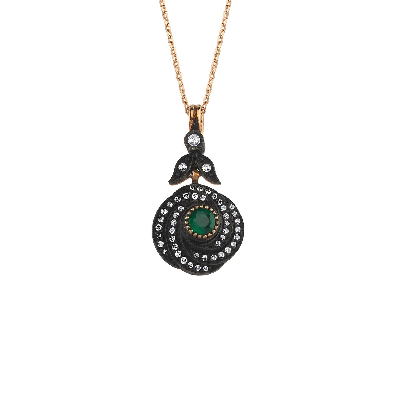 0.27 Carat Emerald Diamond Necklace