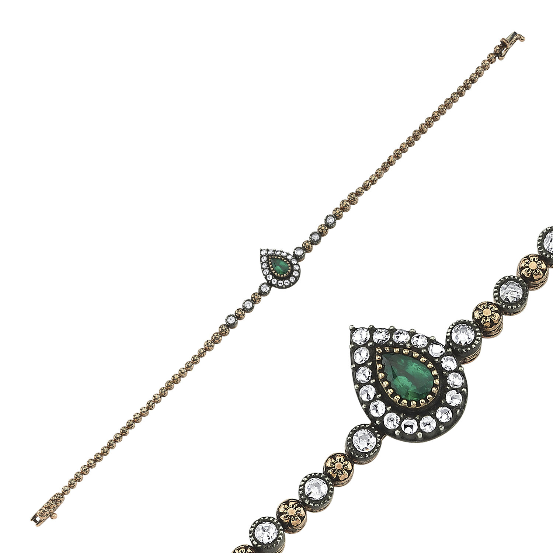 0.46 Carat Bracelet Diamant Émeraude