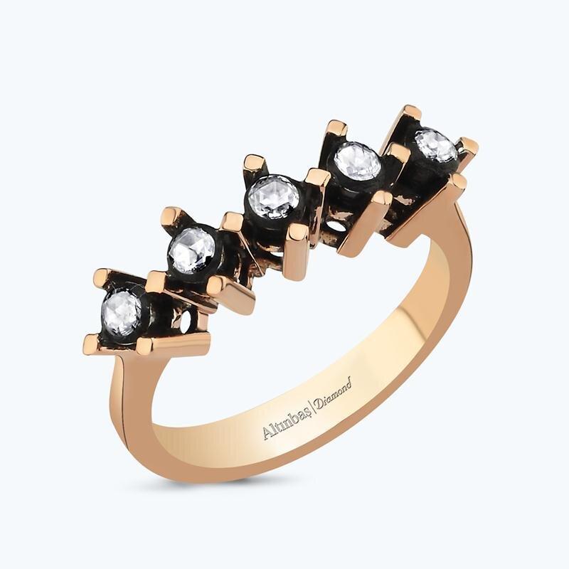 0.31 Carat Five Stone Diamond Ring