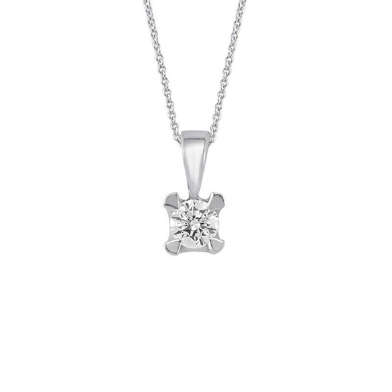 0.41 Carat Solitaire Diamond Necklace