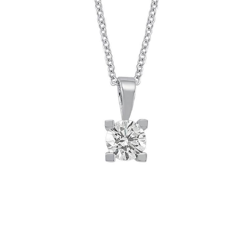 0.18 Carat Solitaire Diamond Necklace