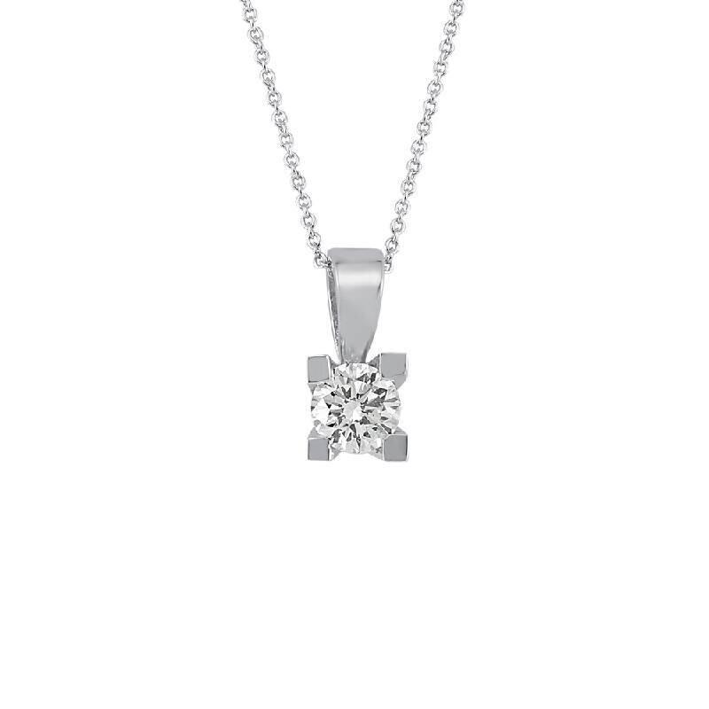 0.40 Carat Solitaire Diamond Necklace