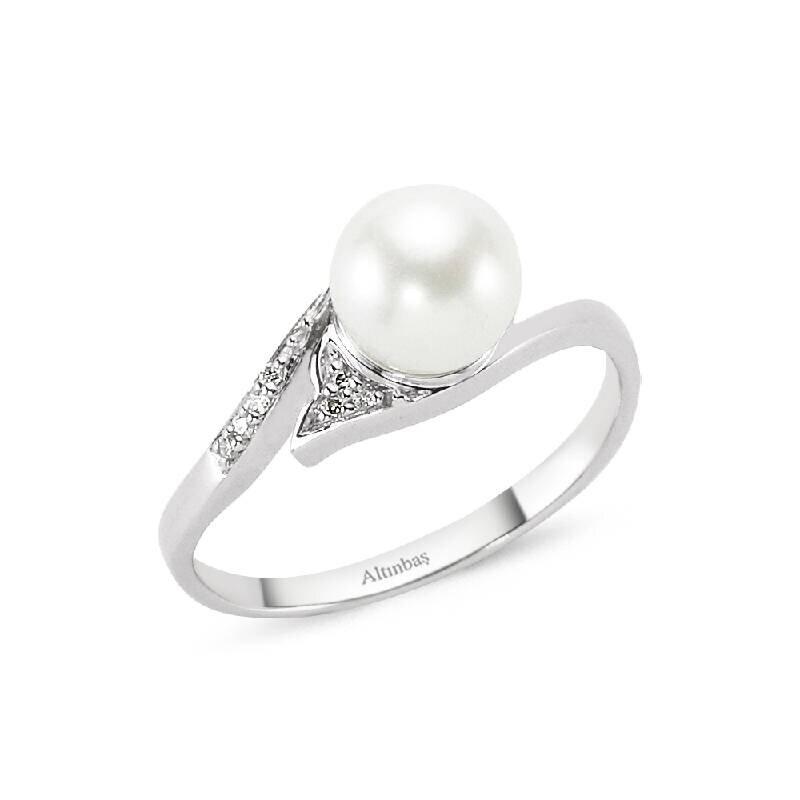 0.03 Carat Bague Diamant Perle