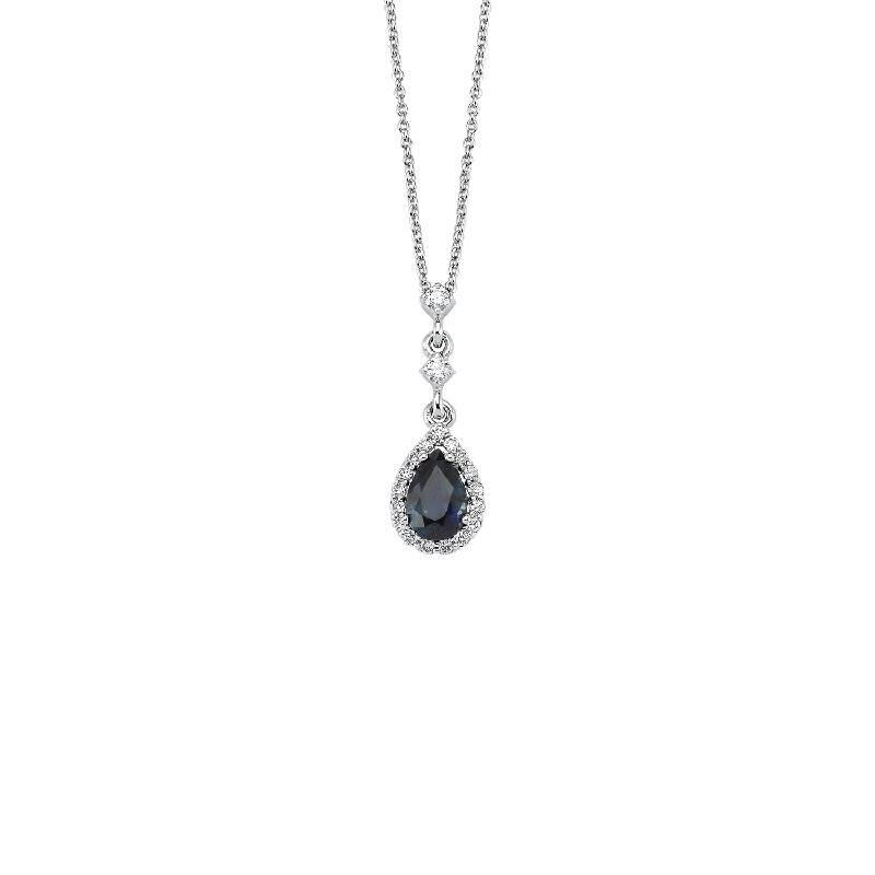 0.11 Carat Sapphire Diamond Necklace