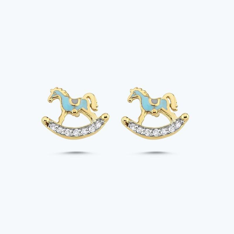 0.07 Carat Kids Carousel Diamond Earrings
