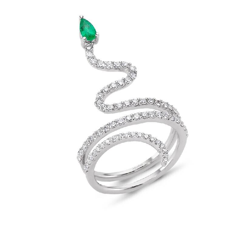 0.71 Carat Emerald Diamond Ring