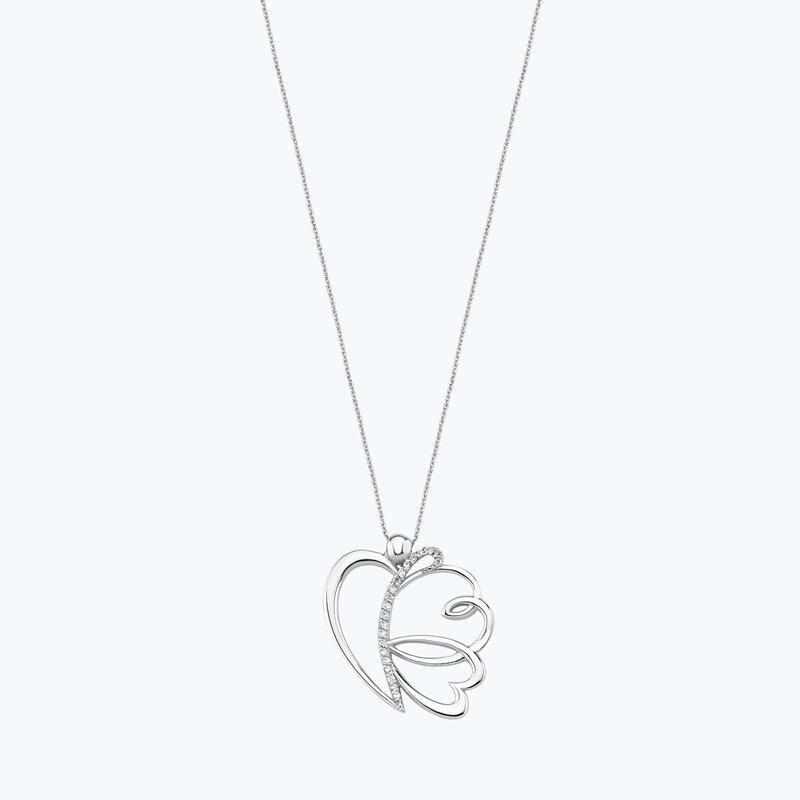 0.08 Carat Diamond Necklace- Mariposa