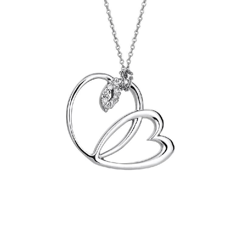 0.04 Carat Diamond Necklace- Mariposa