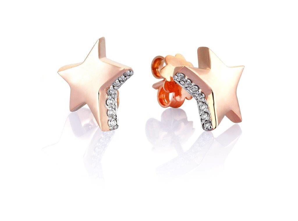 0.11 Carat Charlotte Star Diamond Earrings