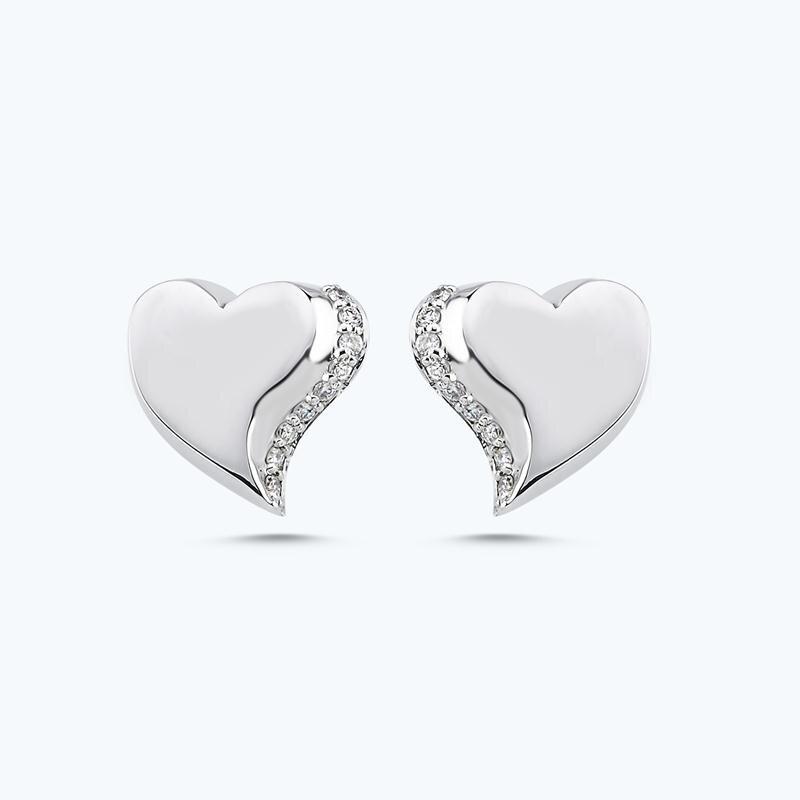 0.11 Carat Charlotte Heart Diamond Earring