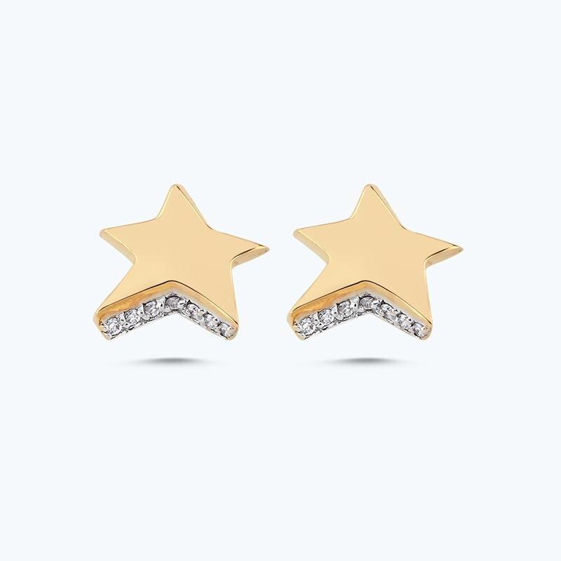 Pırlanta Charlotte Yıldız Küpe