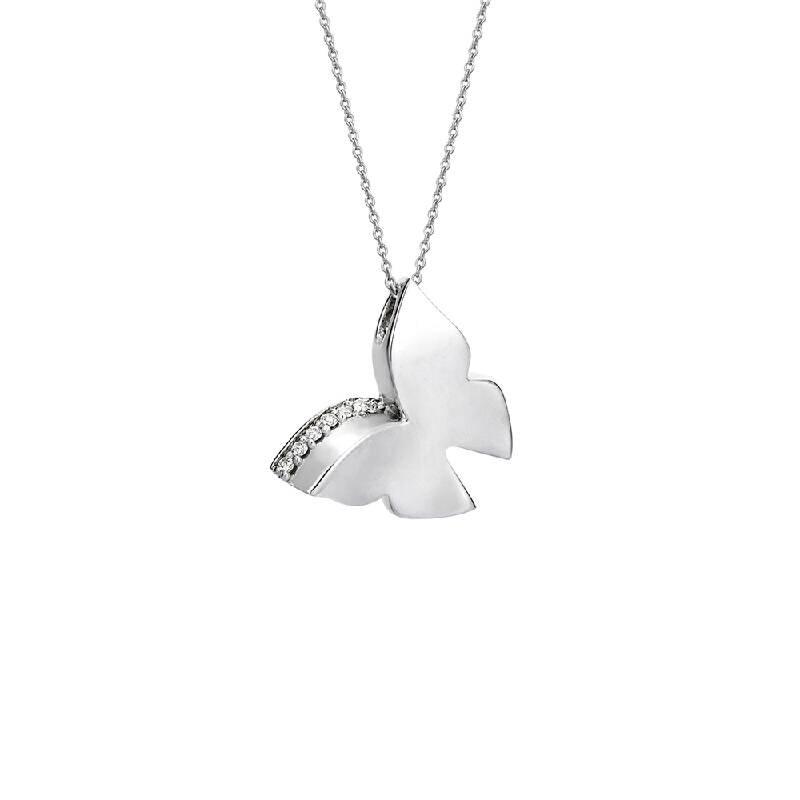 0.06 Carat Butterfly Diamond Necklace- Charlotte