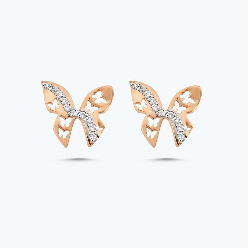 0.12 Carat Charlotte Butterfly Diamond Earring