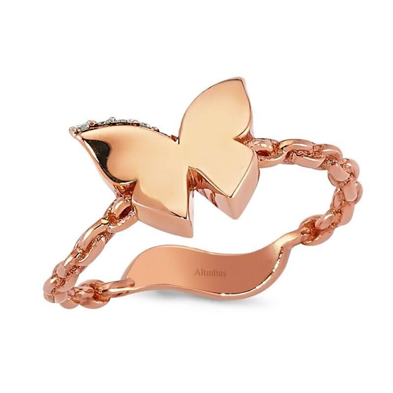 0.04 Carat Charlotte Butterfly Diamond Ring