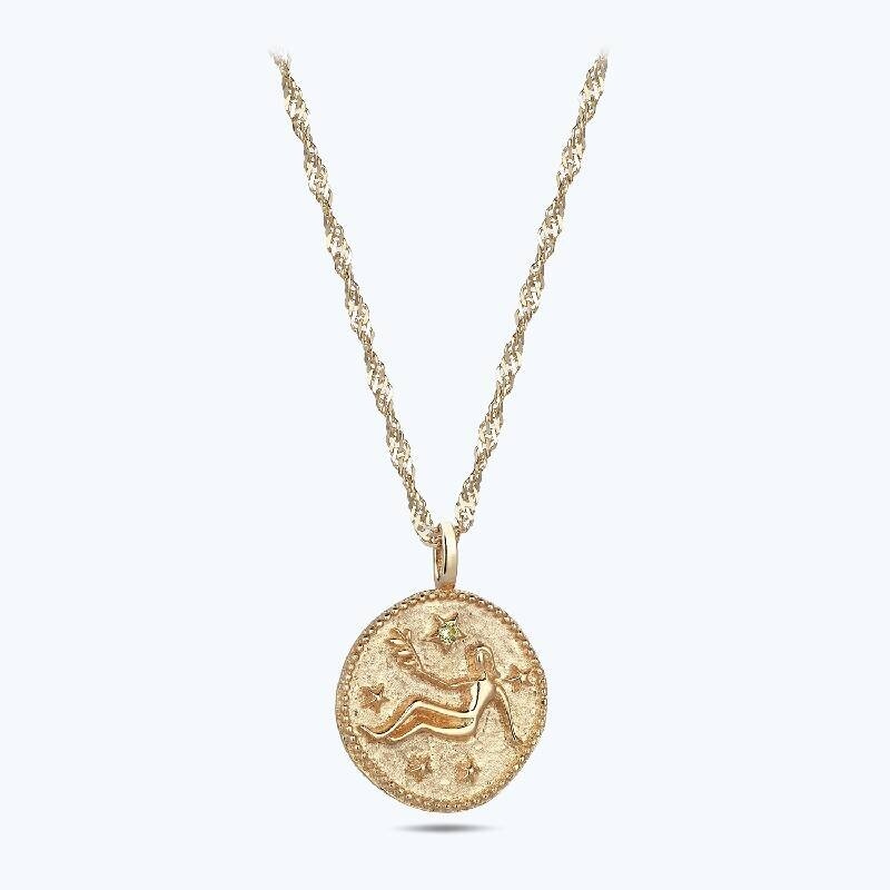 Zodiac Sign Gold Necklace Virgo