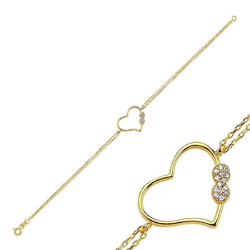22 K Heart Gold Bracelet