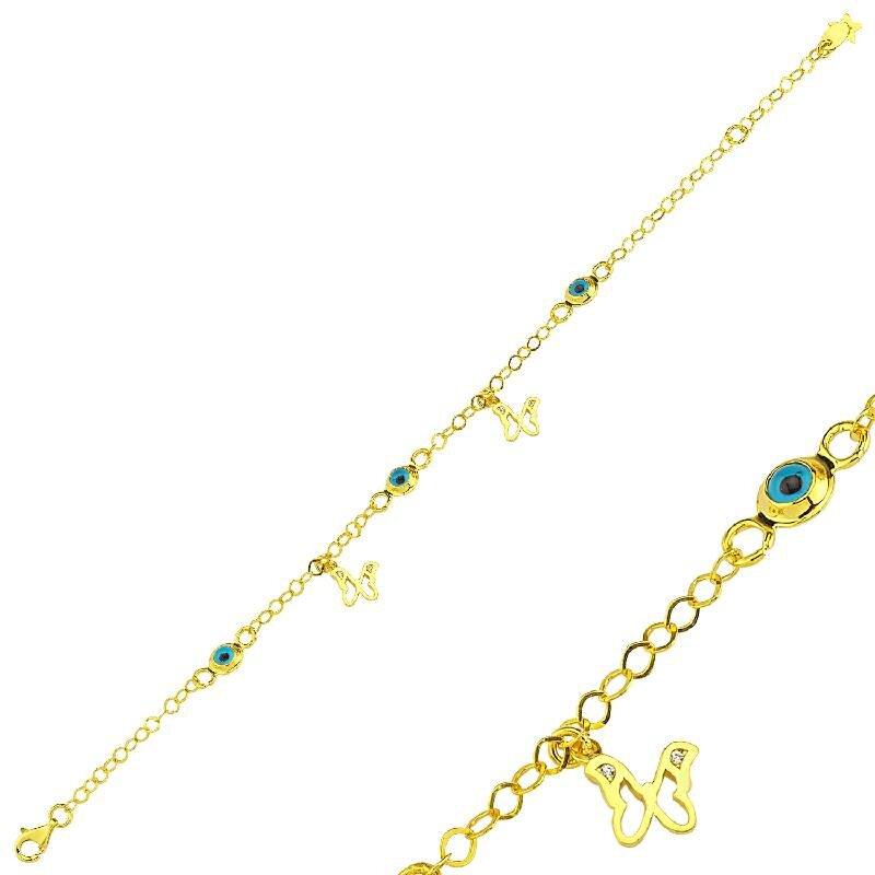 22 K Butterfly Gold Bracelet