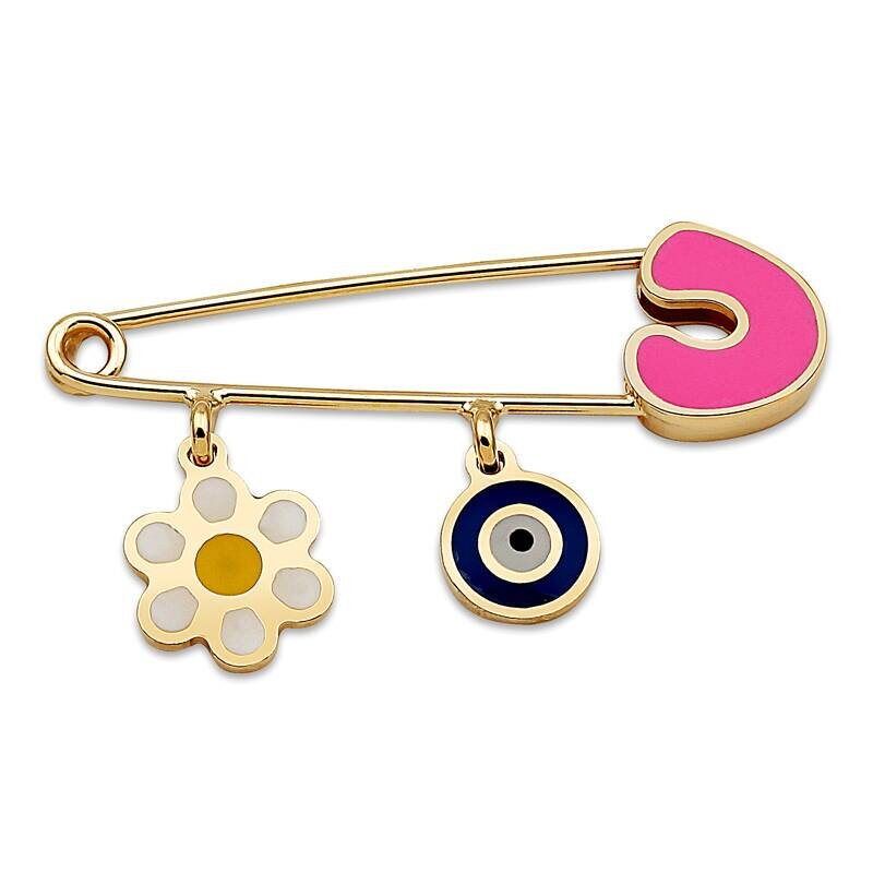 Flower Baby Gold Pin