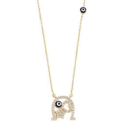 Evil Eye Gold Necklace