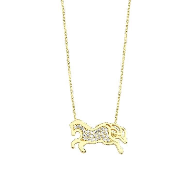 Altın At Kolye