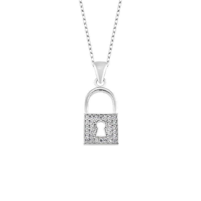 Silber Schloss Halskette