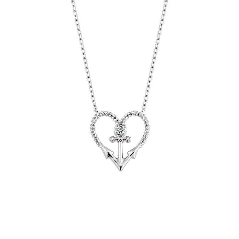 Herz & Anker Silberkette