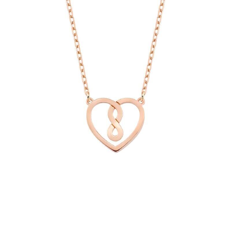 Herz & Unendlichkeit Silberkette