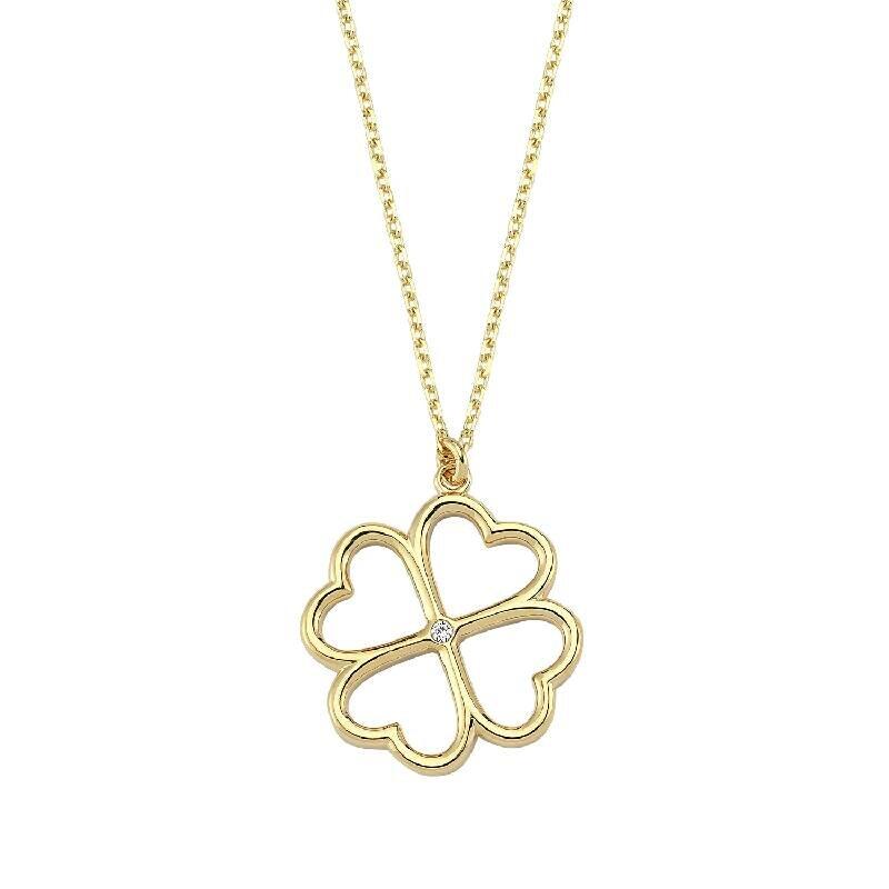 Shamrock Gold Necklace