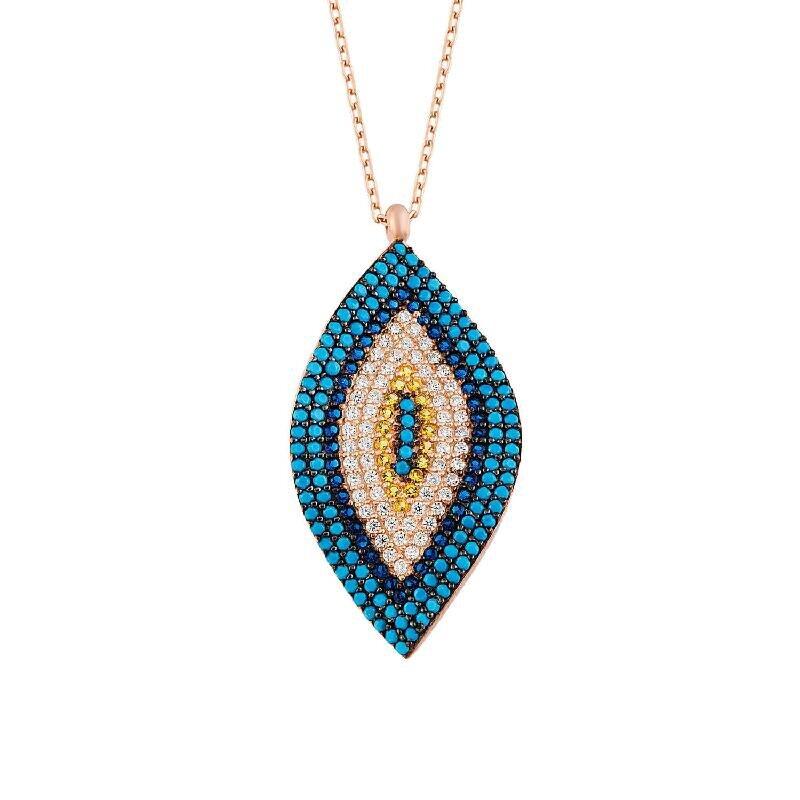 Evil Eye Silver Necklace