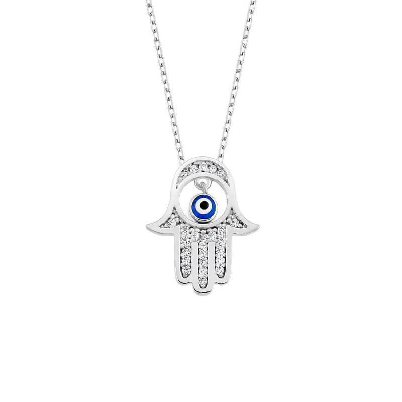 Hand Fatimas Silberkette