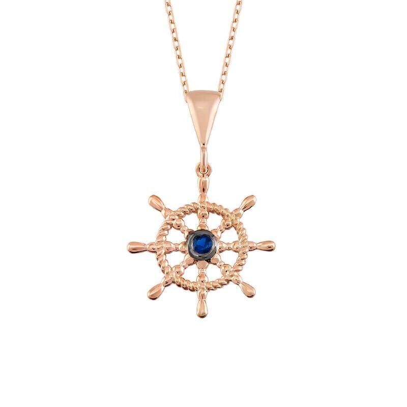 Silber Schiffsruder Halskette