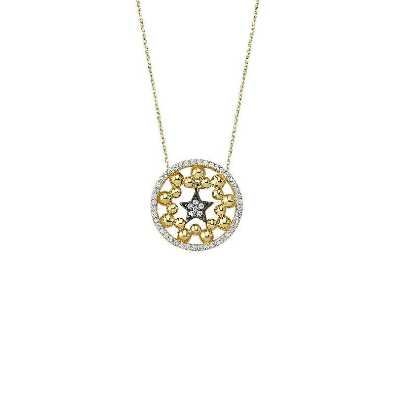 Snowflake & Star Gold Necklace