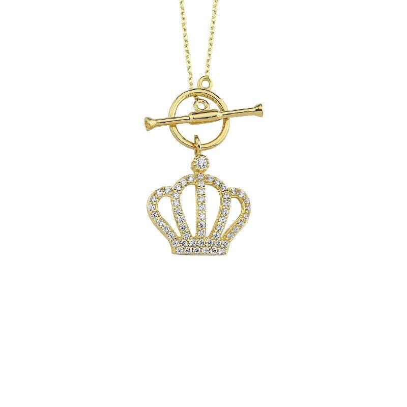Altın Kral Tacı Kolye