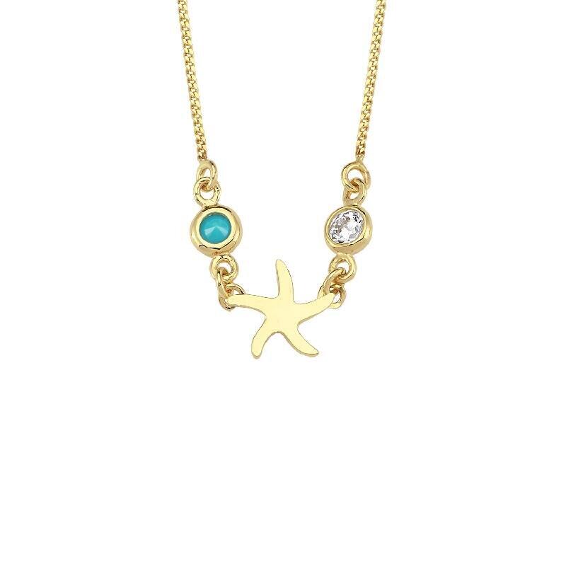 Altın Deniz Yıldızı Kolye