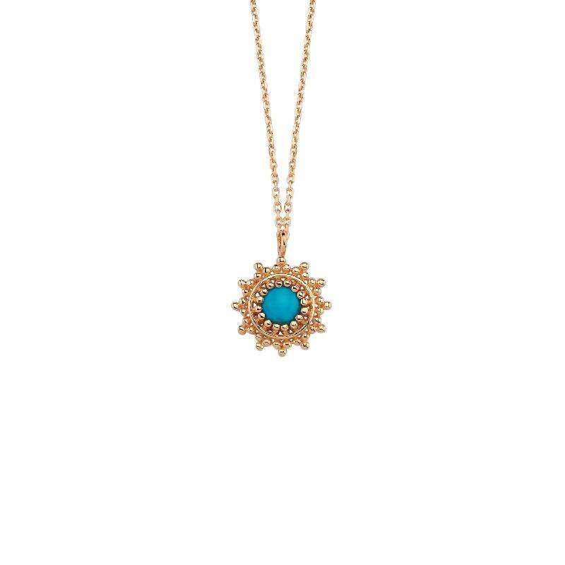 Colored Stone Gold Necklace