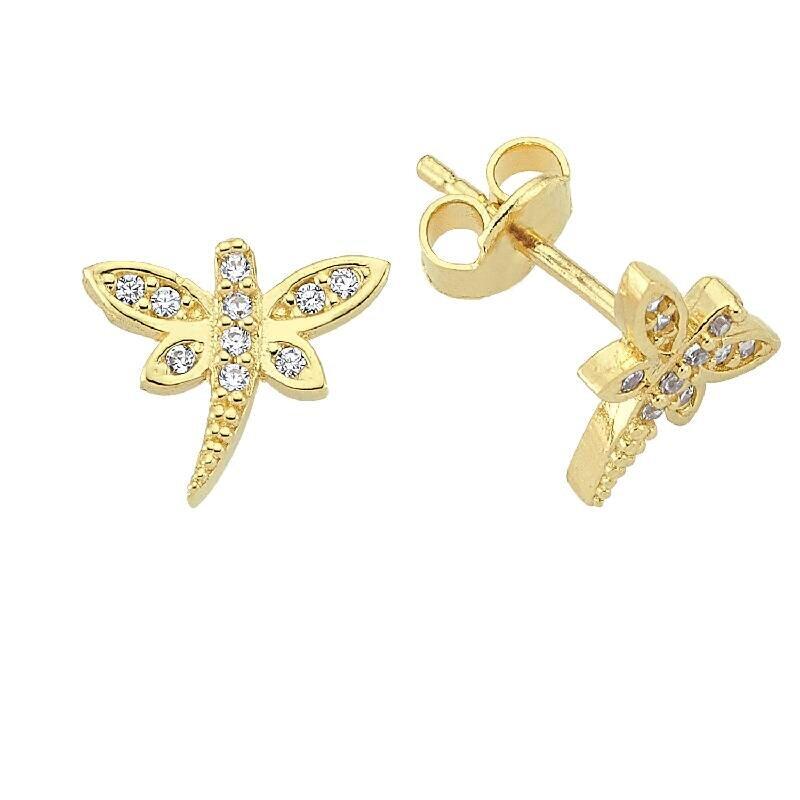 Kids Dragonfly Gold Earring