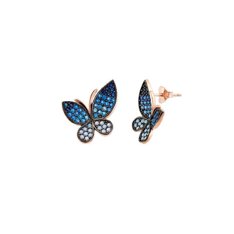 Boucle d'Oreille Papillon en Argent