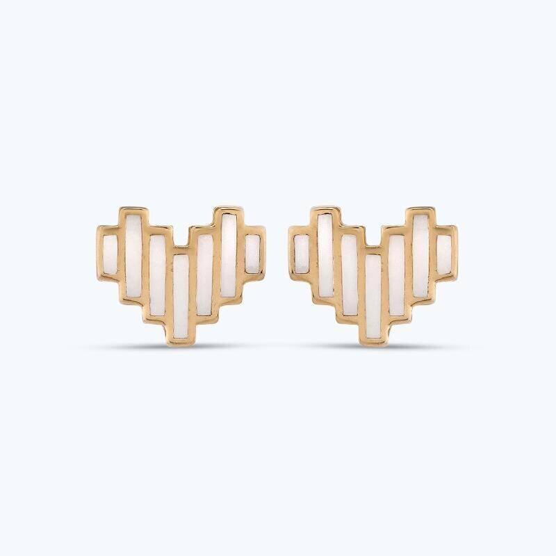 Altın Kalp Küpe