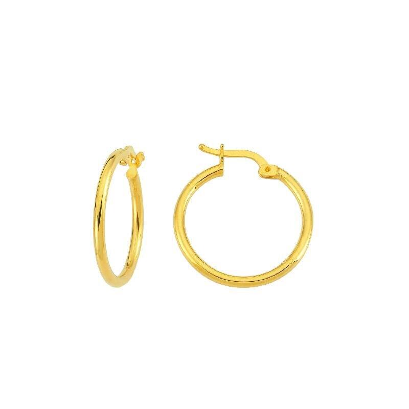 22 K Hoop Gold Earring