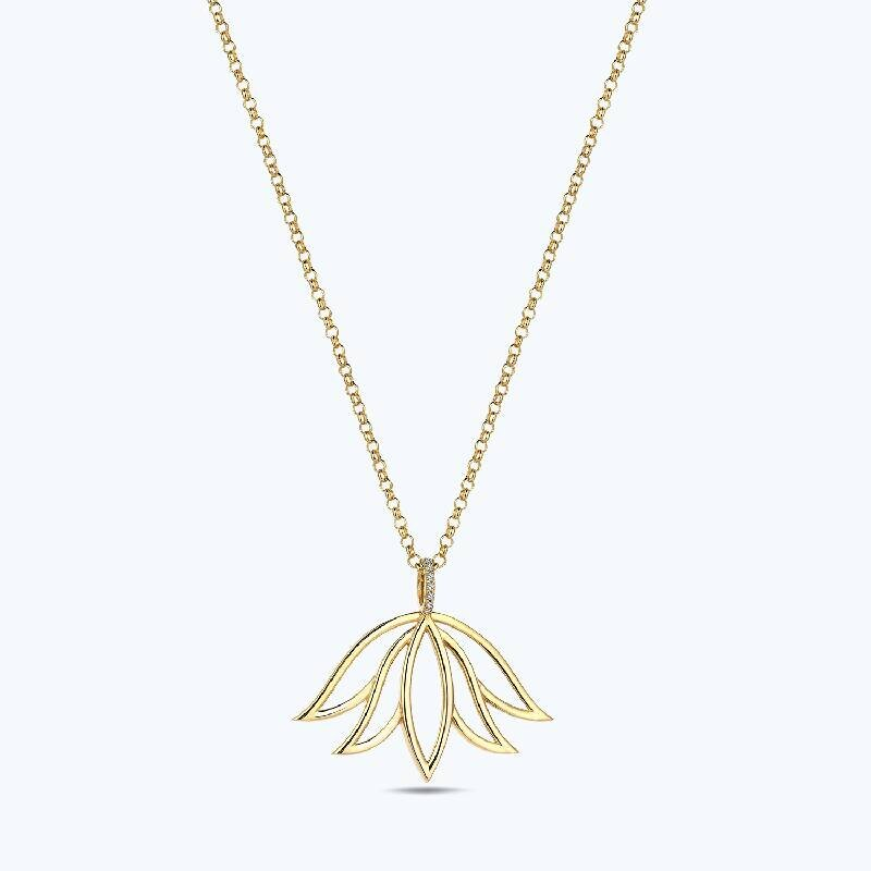 Reflection Lotus Gold Necklace
