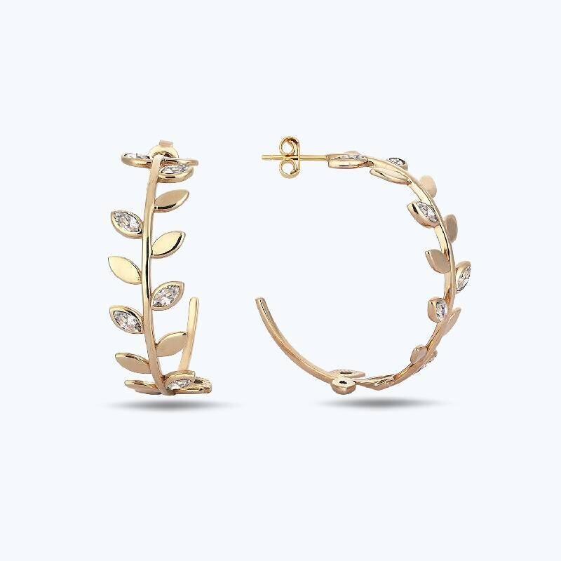Reflection Gold Earring